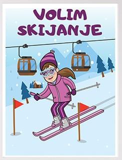 Volim skijanje poster izaberite postere za vaše mališane.