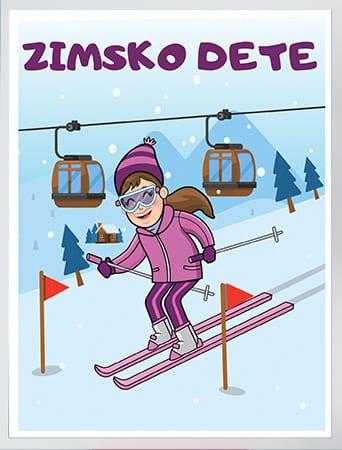 Posteri za dačije sobe zimsko dete. Sportanc.rs