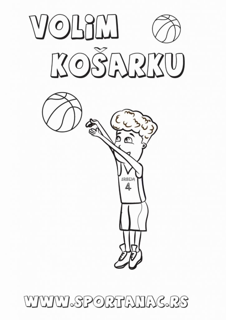 Bojanka za decu sportanac košarkaš, izaberite za vaše mališane sportske bojanke koje će ih upoznati sa sportovima na kreativan način
