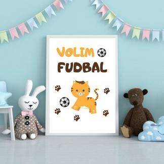 Posteri volim fudbal za decu