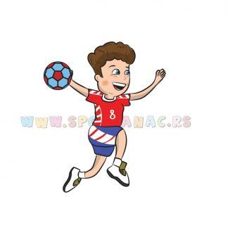Sportske ilustracije za decu, rukomet. Sportanac