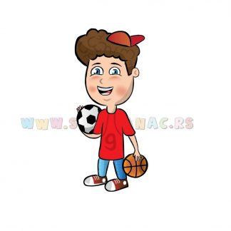 Sportske ilustracije za decu. Sportsko sam dete od glave do pete. Sportanac