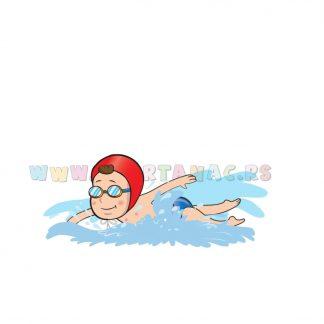 Sportske ilustracije za decu, plivanje. Sportanac