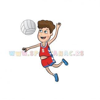 Sportske ilustracije za decu, odbojka. Sportanac