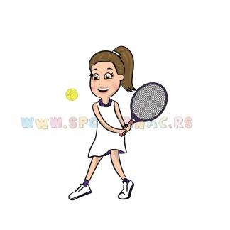 Dečije sportske ilustracije teniserka. Sportanac