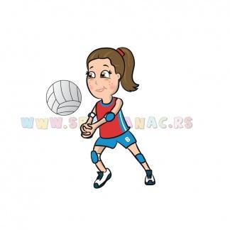 Sportske dečije ilustracije odbojkašica