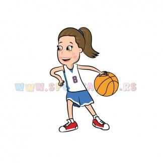 Dečije sportske ilustracije košarkašica. Sportanac