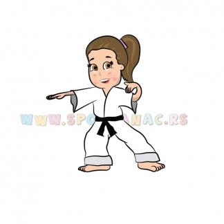 Dečije sportske ilustracije karate devojčica. Sportanac