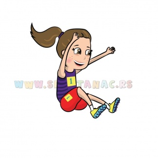 Dečije sportske ilustracije atletika devojčica. Sportanac