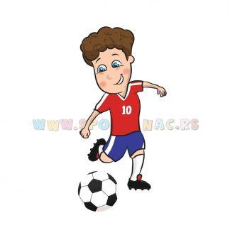 Sportske dečije ilustracije, fudbal. Sportanac