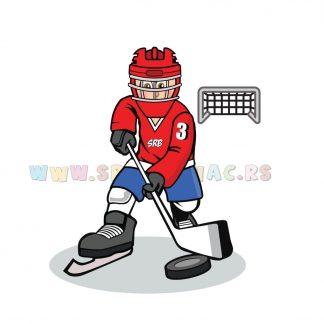 Sportske ilustracije za decu, hokej na ledu. Sportanac