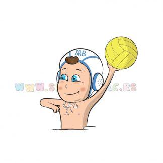 Sportske ilustracije za decu, vaterpolo. Sportanac