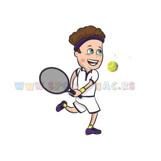 Sportske ilustracije za decu, tenis. Sportanac