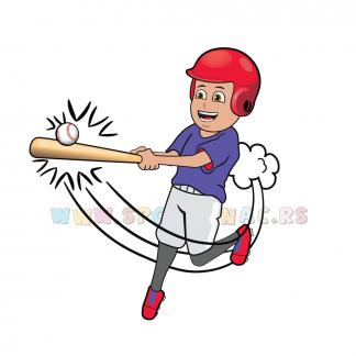 Sportske dečije ilustracije, bejzbol. Sportanac online prodavnica