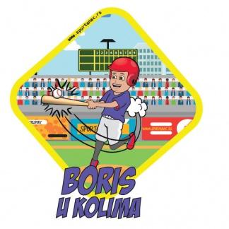 Stikeri za auto sa dečijim bejzbol motivom. Auto nalepnice za decu i bebe sa sportskim ilustracijama.