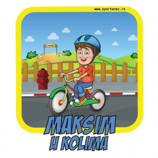 Stikeri za auto dečak biciklizam