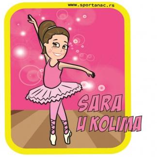 Stikeri za auto devojčica balet